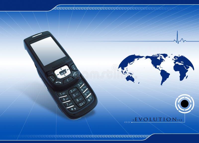 Comunicación móvil ilustración del vector