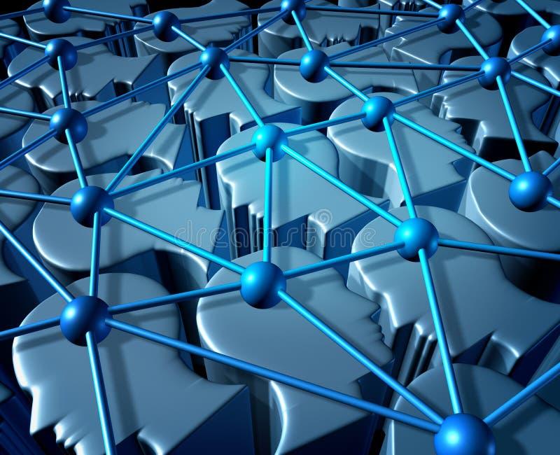 Comunicación social de la red ilustración del vector