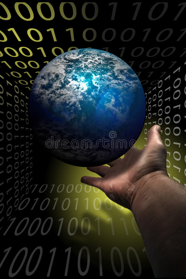 Comunicaciones del Internet libre illustration