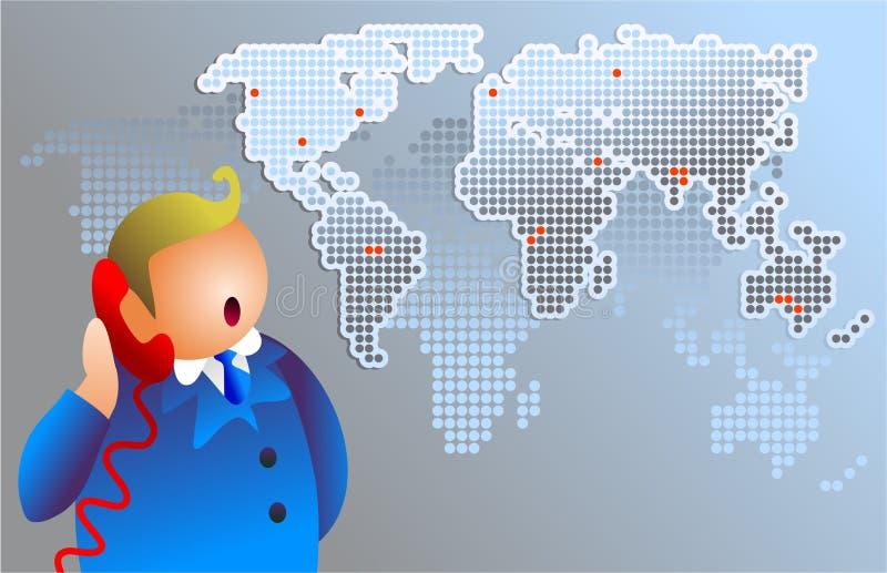 Comunicaciones del mundo ilustración del vector