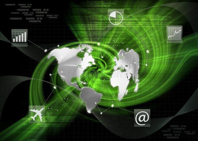 Comunicaciones empresariales globales ilustración del vector