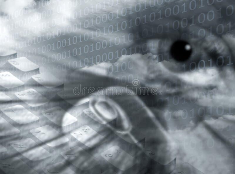 Comunicaciones seguras ilustración del vector