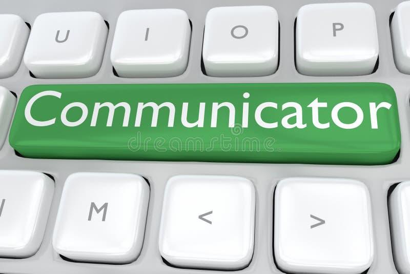 Comunicador - conceito da informação ilustração royalty free