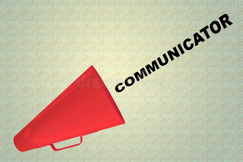 COMUNICADOR - conceito de uma comunicação ilustração stock