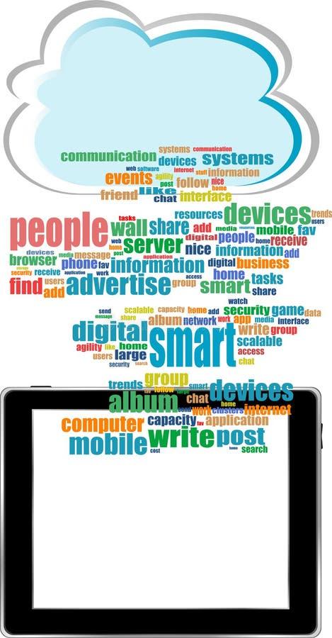 Comunicador do conceito com palavra social da rede ilustração royalty free