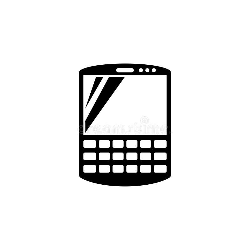 Comunicador elegante, icono plano del vector de la PDA stock de ilustración
