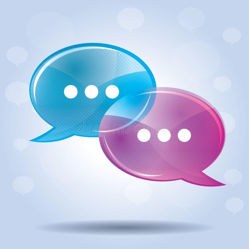comunication的讲话泡影 库存例证