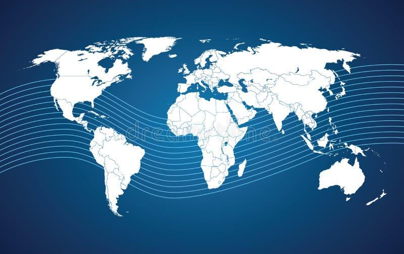 Comunication de la correspondencia de mundo stock de ilustración