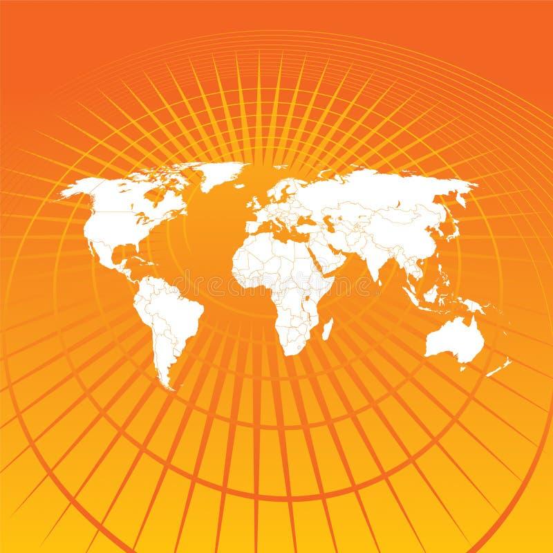 Comunication do mapa de mundo ilustração royalty free
