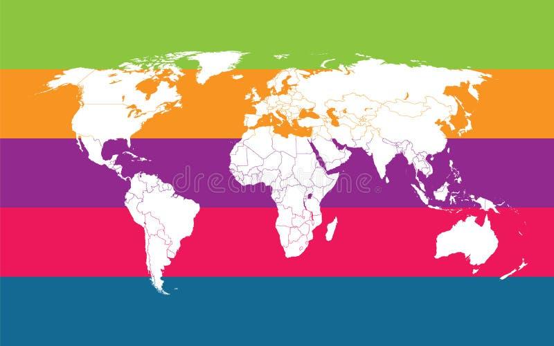 comunication mapy świat royalty ilustracja