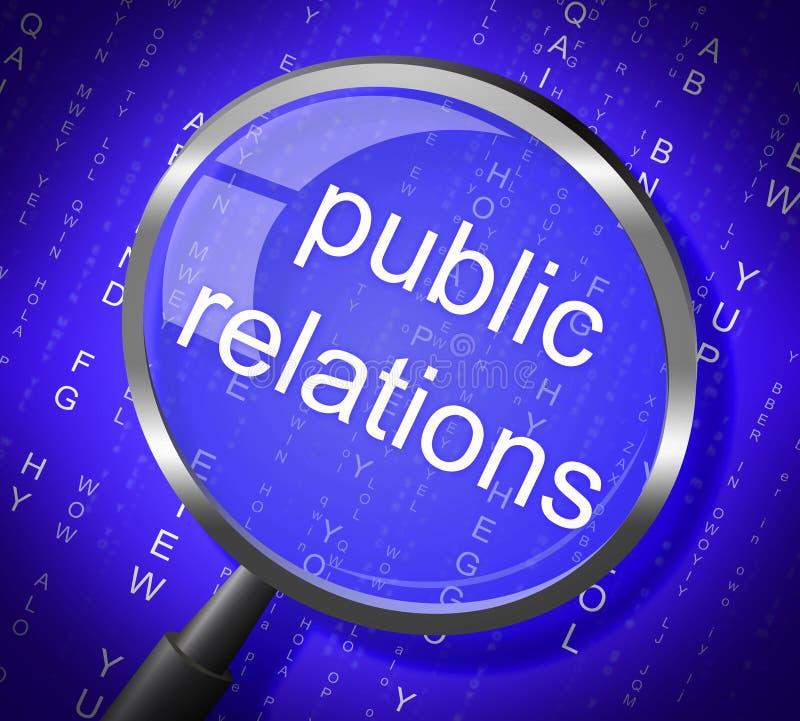 Comunicato stampa ed ingrandimento di mezzi di pubbliche relazioni illustrazione di stock