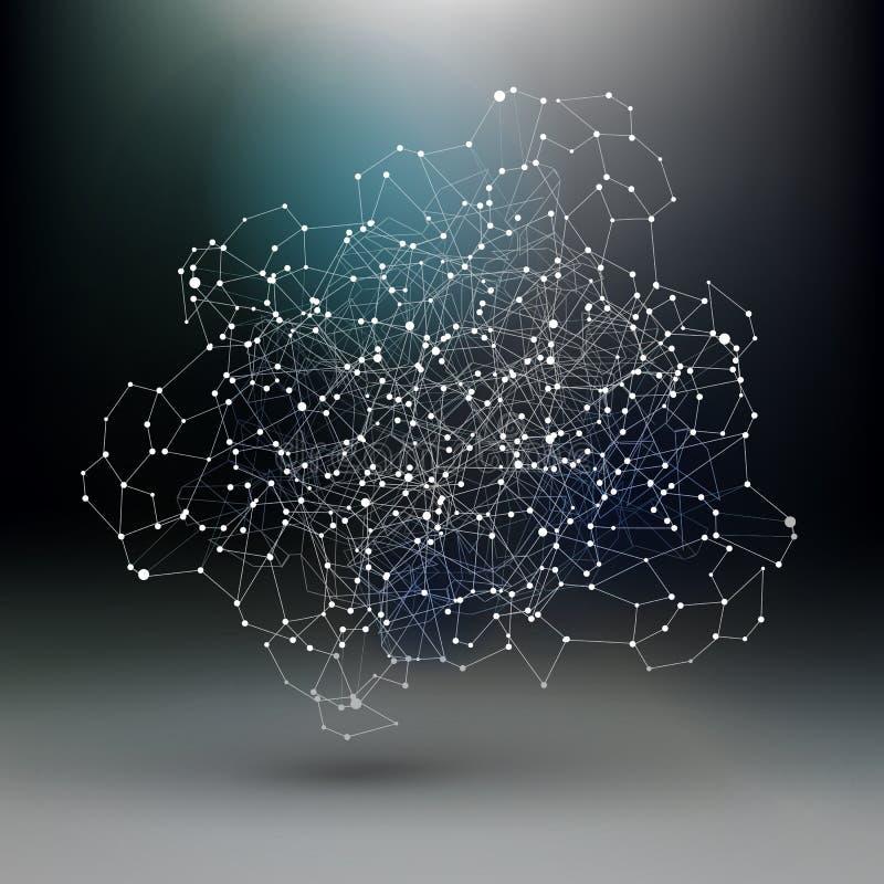 Comunicazione astratta, schema scuro della rete illustrazione di stock