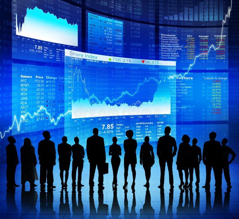 Comunicazione commerciale al mercato azionario immagine stock