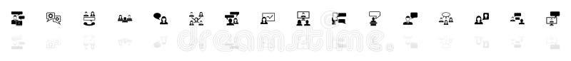 Comunicazione commerciale - icone piane di vettore illustrazione vettoriale