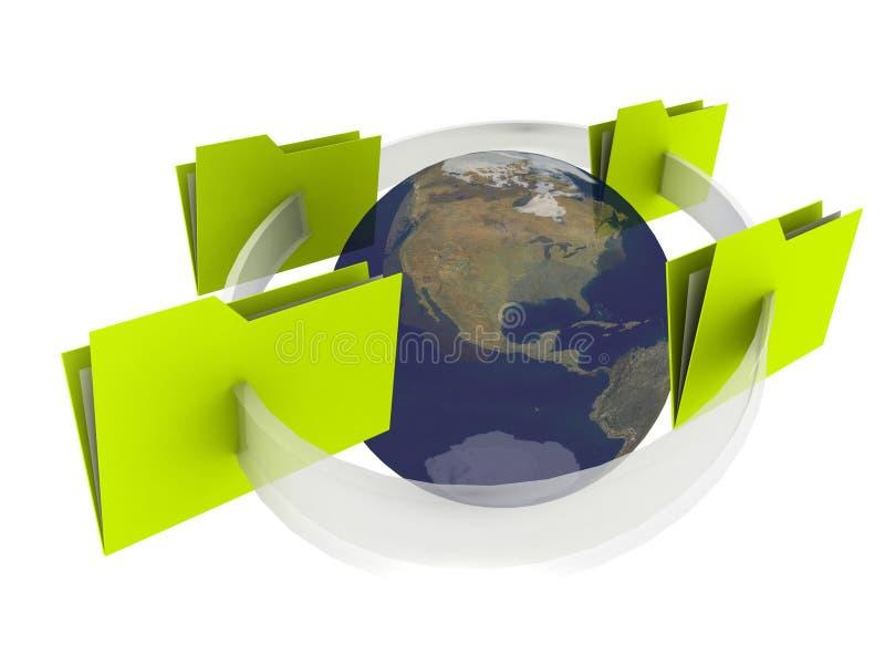 Comunicazione del Internet del dispositivo di piegatura illustrazione vettoriale