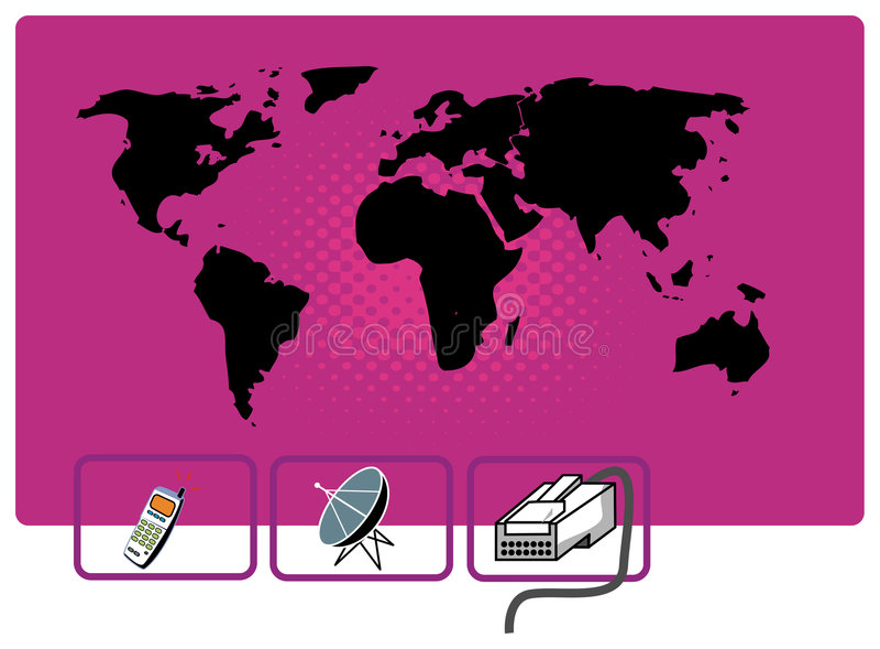 Comunicazione del mondo illustrazione vettoriale