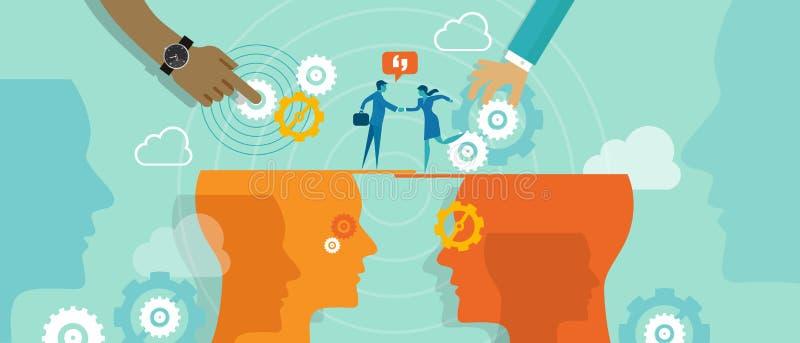 Comunicazione di fusione di concetto di affari illustrazione vettoriale