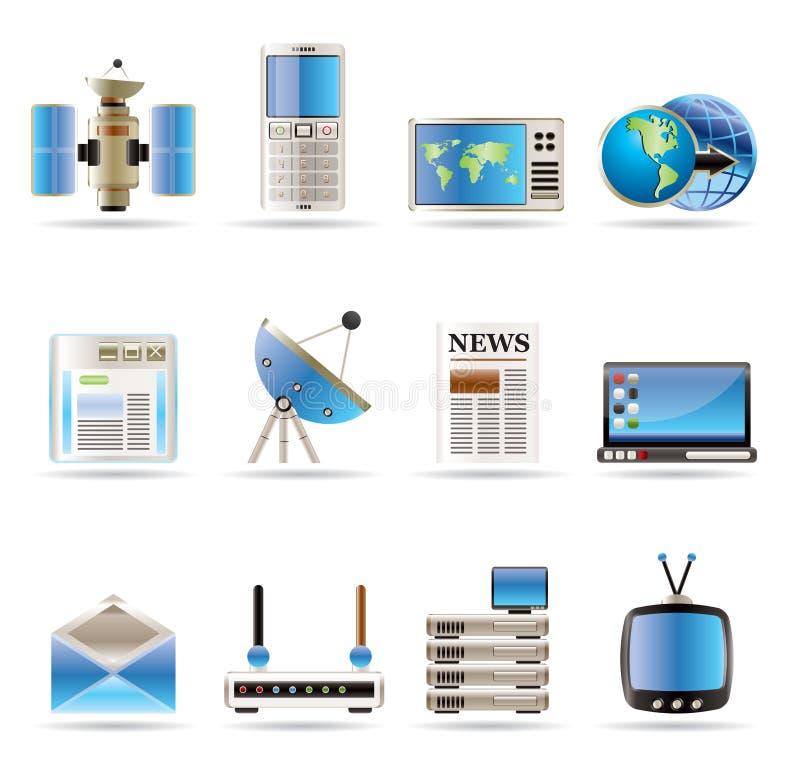 Comunicazione ed icone realistiche di Busines royalty illustrazione gratis