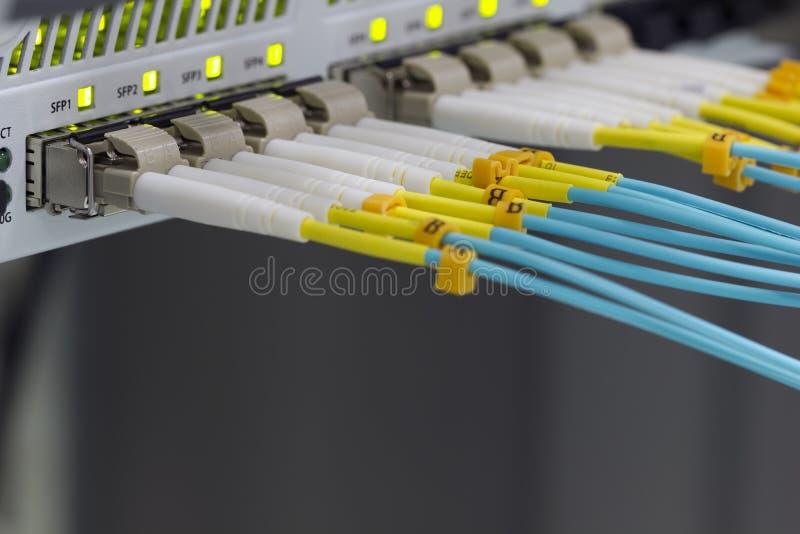 Comunicazione a fibra ottica fotografia stock