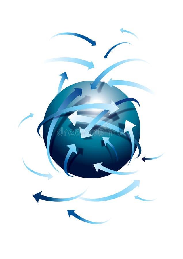Comunicazione globale illustrazione di stock
