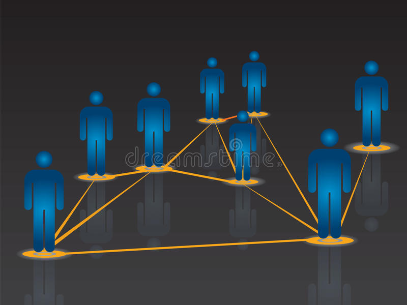 Comunicazione globale di Internet nella rete sociale illustrazione vettoriale