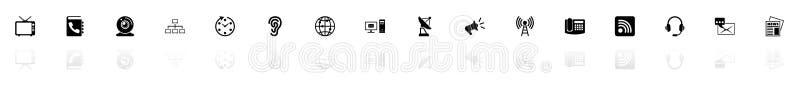Comunicazione - icone piane di vettore royalty illustrazione gratis