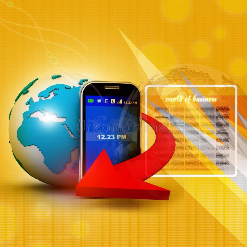 Comunicazione su mezzi mobili illustrazione di stock