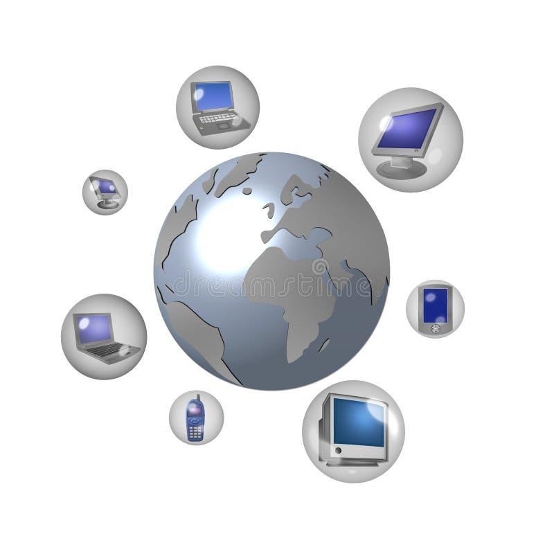 Comunicazione in tutto il mondo   royalty illustrazione gratis