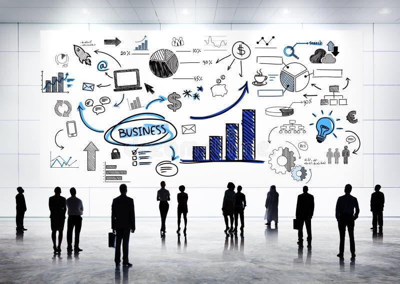 Comunicazioni commerciali globali con Infographic fotografie stock