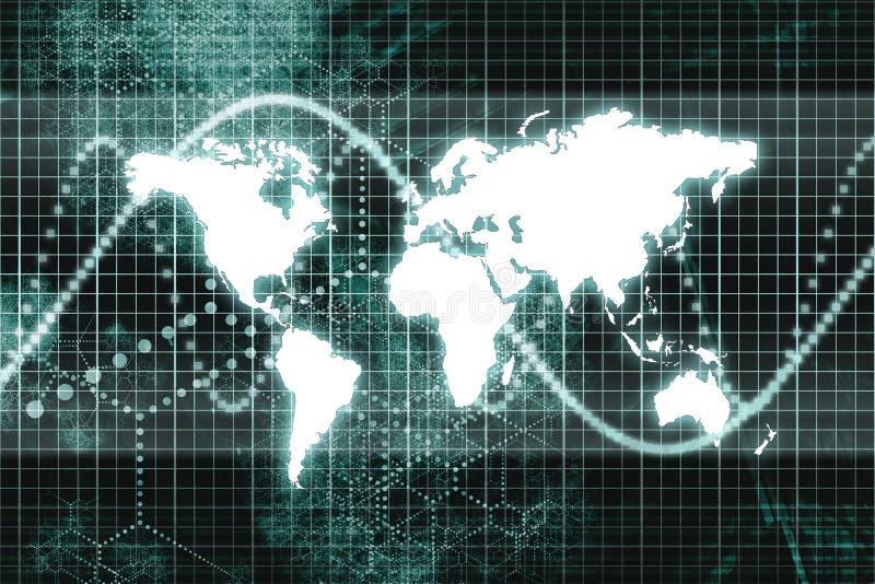 Comunicazioni commerciali in tutto il mondo illustrazione di stock