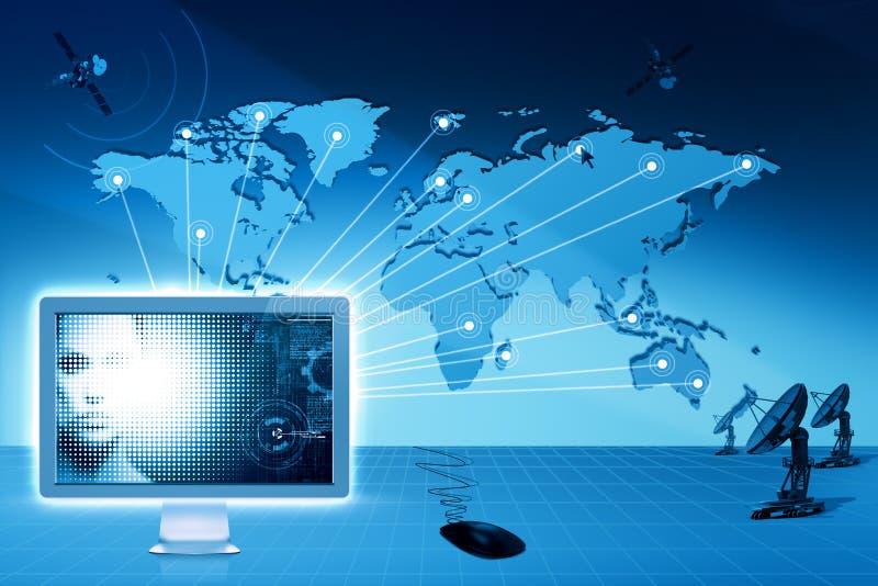 Comunicazioni globali ed Internet. illustrazione di stock