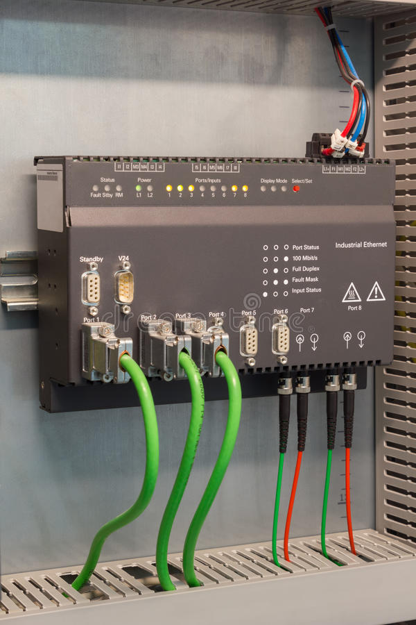 Comunicazioni industriali di Ethernet fotografia stock libera da diritti
