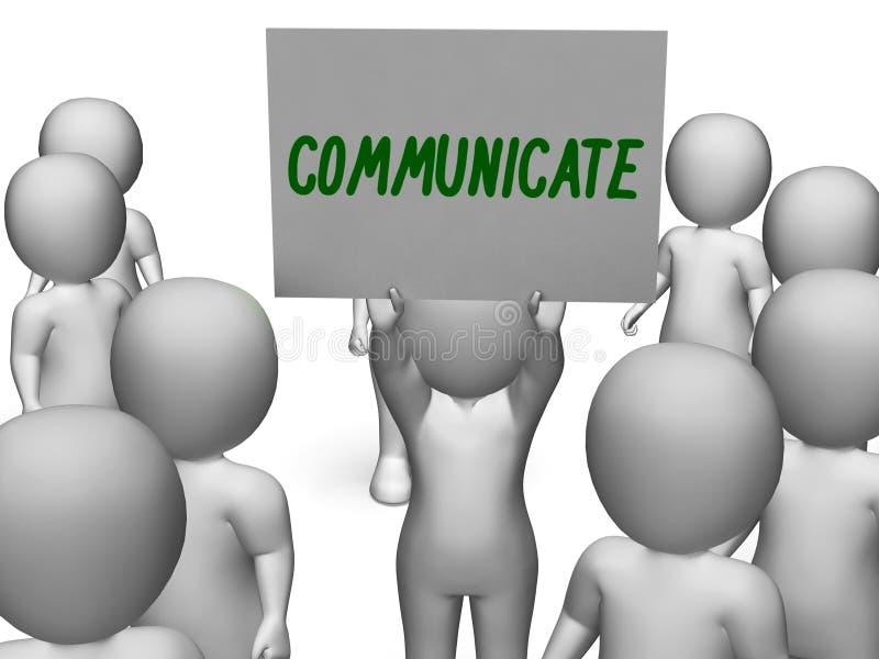 Comunichi il segno che mostra l'altoparlante o la discussione illustrazione di stock