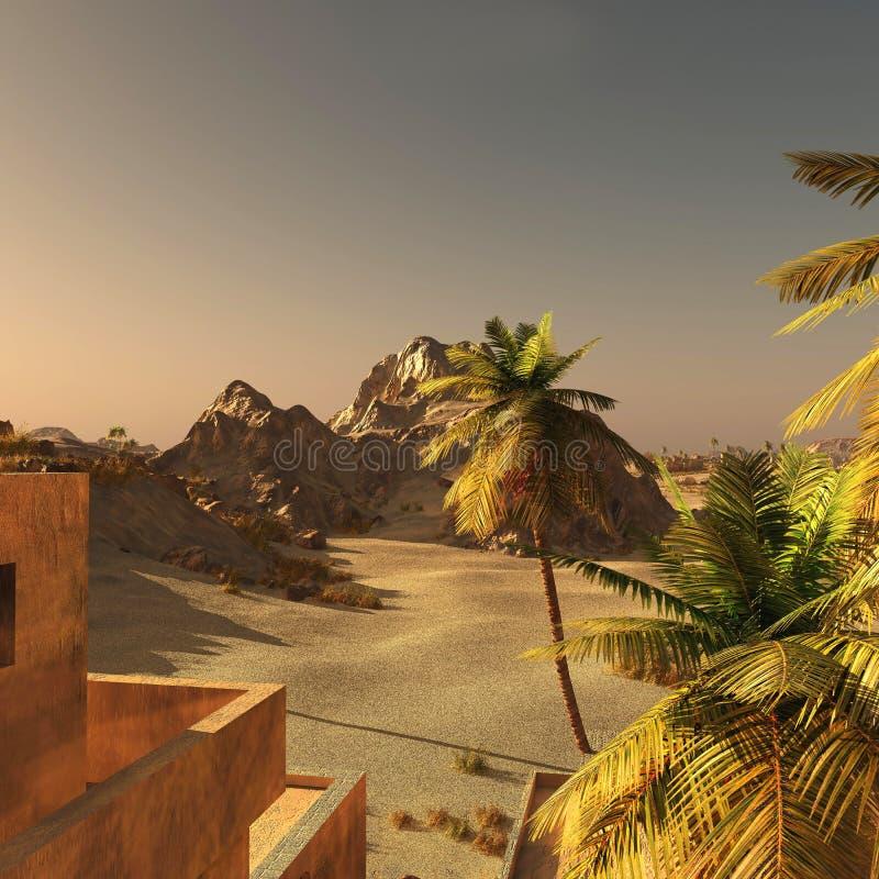 Comunidad árabe en la tierra, representación 3d stock de ilustración