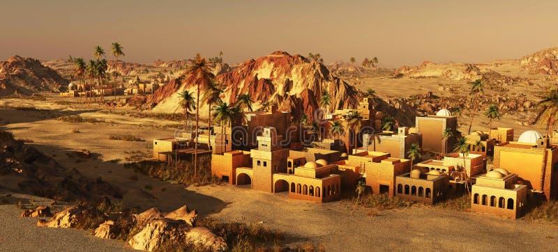 Comunidad árabe en la tierra, representación 3d ilustración del vector