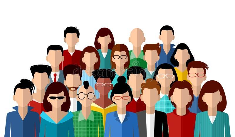 Comunidad anónima de gente ilustración del vector