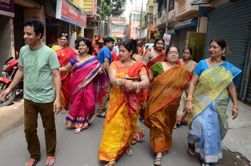 Comunidad bengalí en Kolkata imagen de archivo libre de regalías