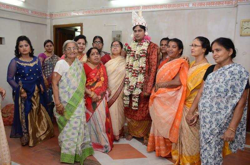 Comunidad bengalí en Kolkata foto de archivo libre de regalías