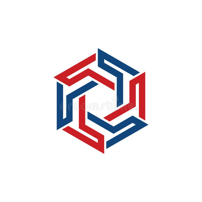 Comunidad corporativa Team Cool Logo Symbol del hexágono libre illustration