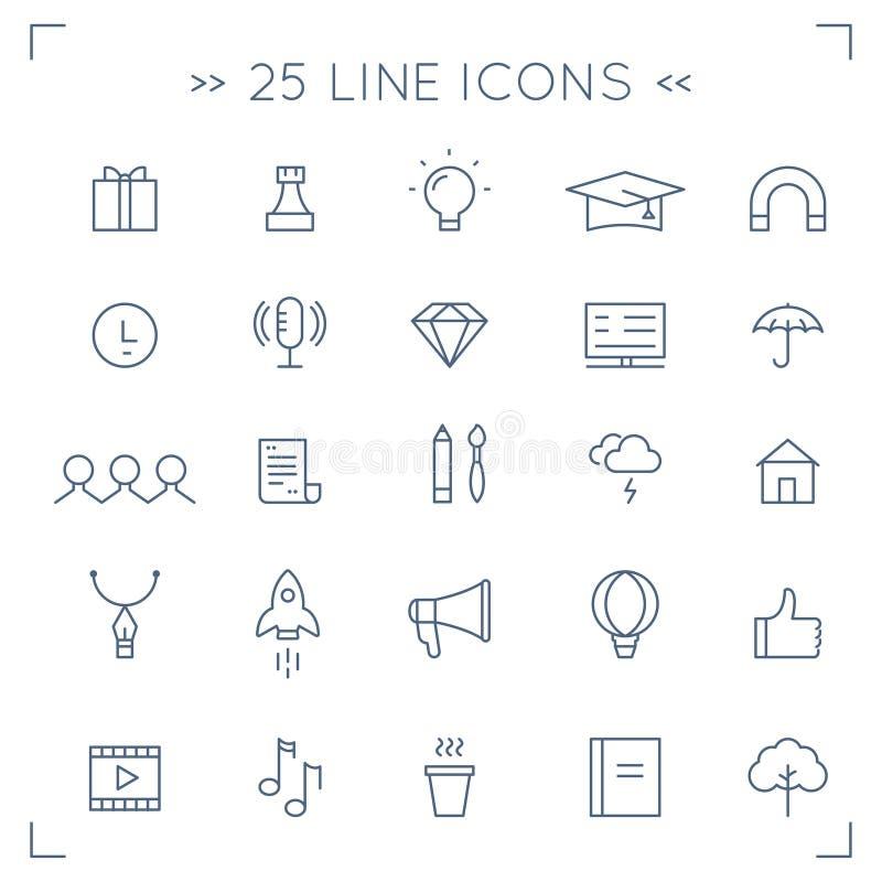 Comunidad del web y medios iconos alineados Minimalistic sociales del vector libre illustration