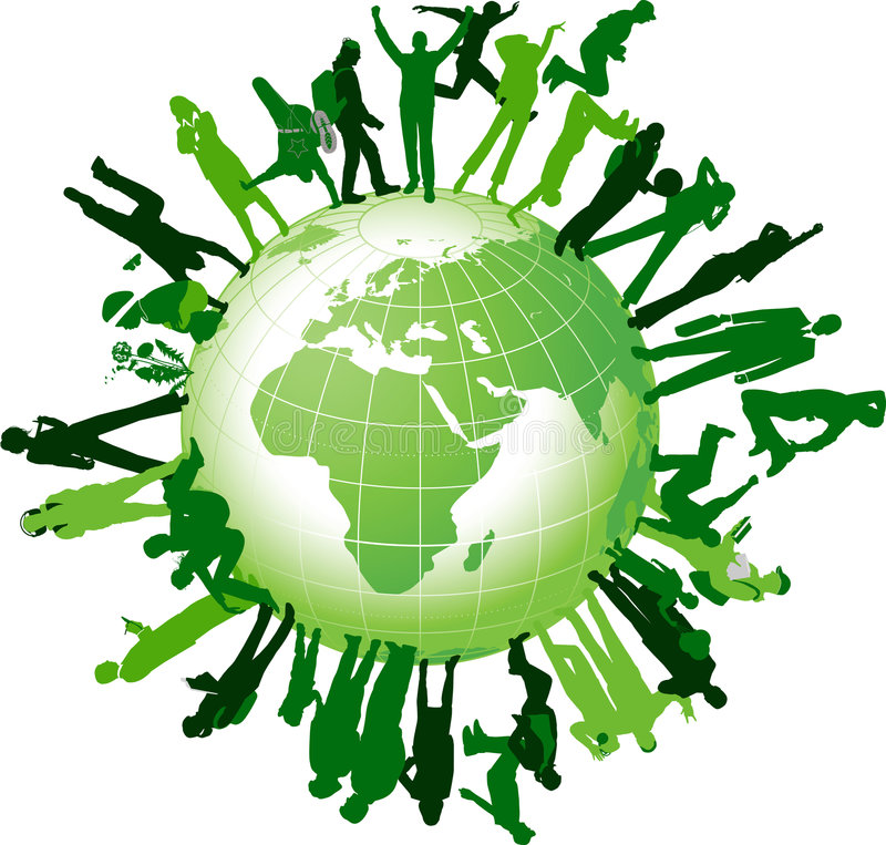 Comunidad global. libre illustration