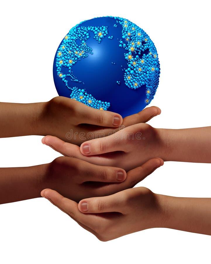 Comunidad global de la educación stock de ilustración