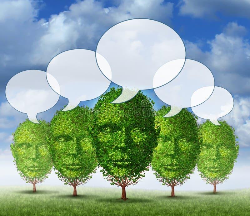 A comunidade crescente de uma comunicação ilustração stock