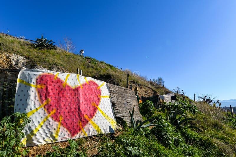 A comunidade da caverna em Granada - Espanha fotos de stock royalty free