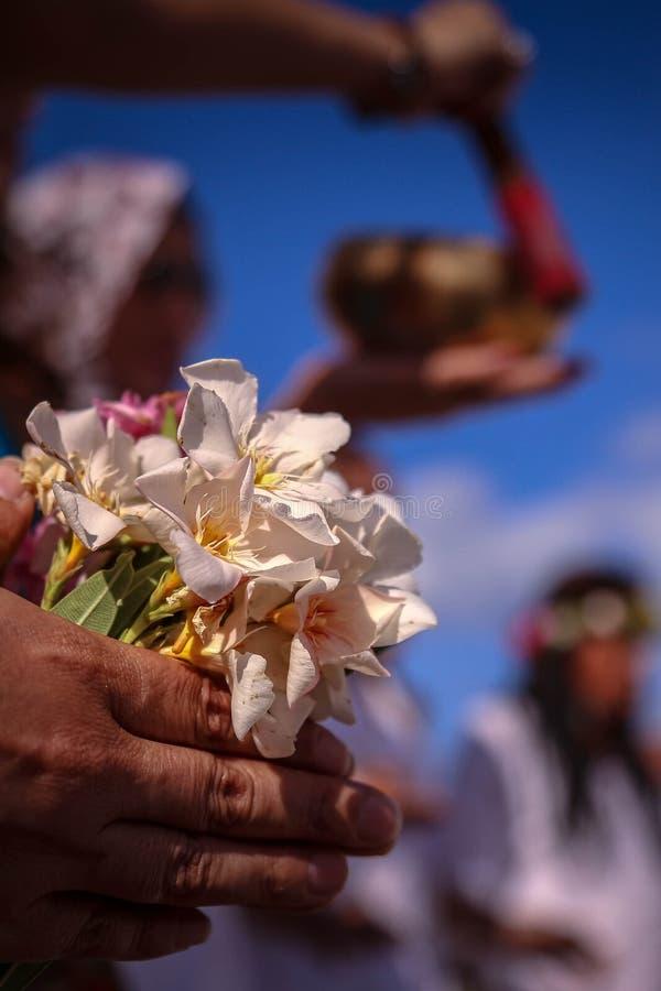 A comunidade da praia da hippie fotografia de stock