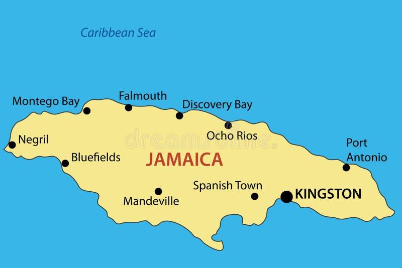 Comunidade de Jamaica - mapa ilustração do vetor