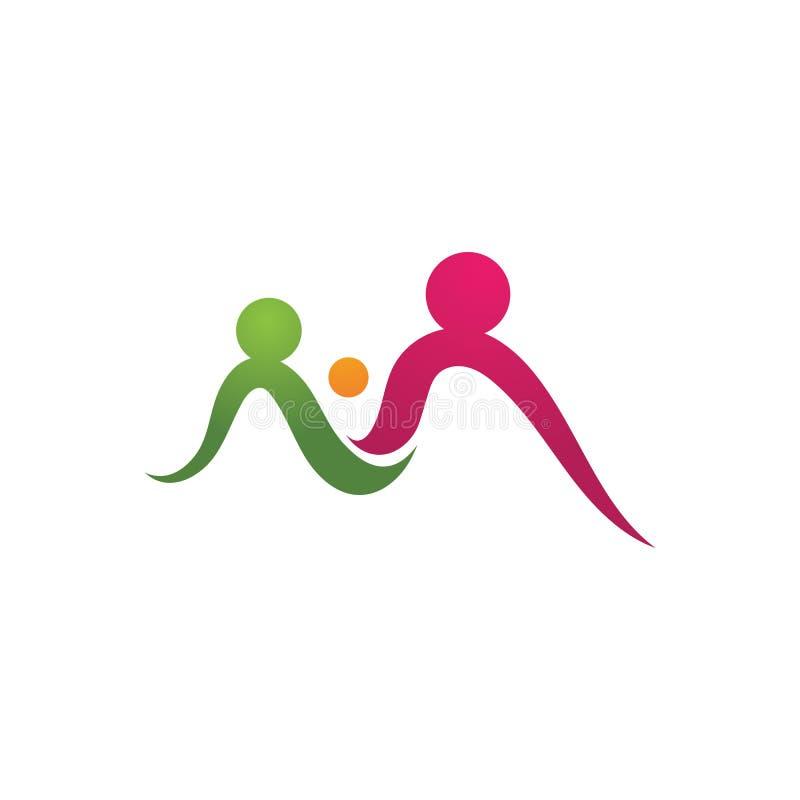 A comunidade do bebê da adoção, rede e projeto social do ícone ilustração do vetor