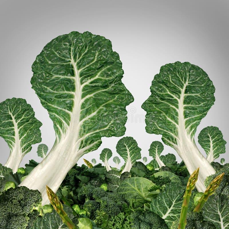 A comunidade do vegetariano ilustração stock