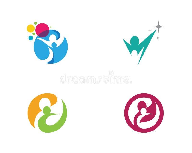 A comunidade, rede e ícone social ilustração stock