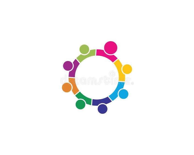 A comunidade, rede e ícone social ilustração royalty free